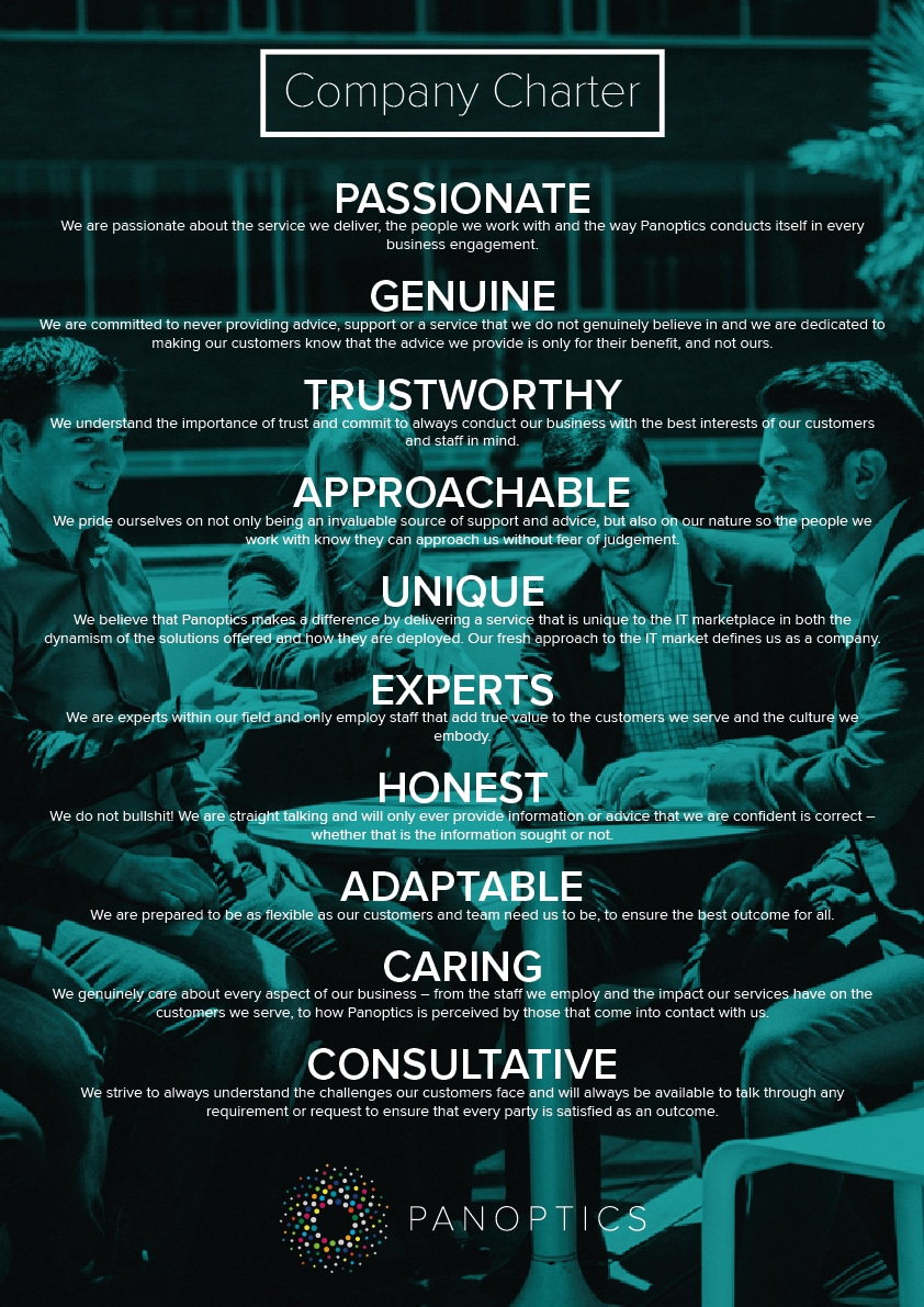 Company Charter - Panoptics - IT Provider